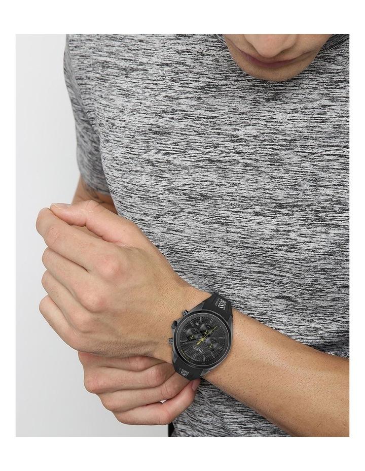 Distinct Black Silicone Men's Chrono Watch image 4