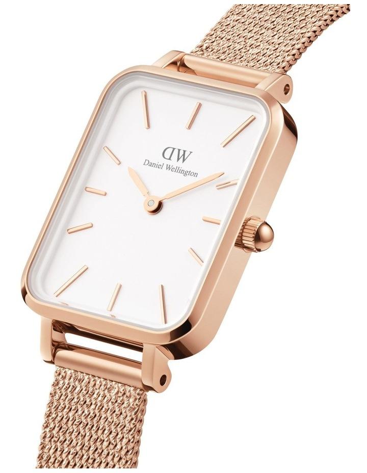 Quadro Pressed Melrose RG White Watch image 3