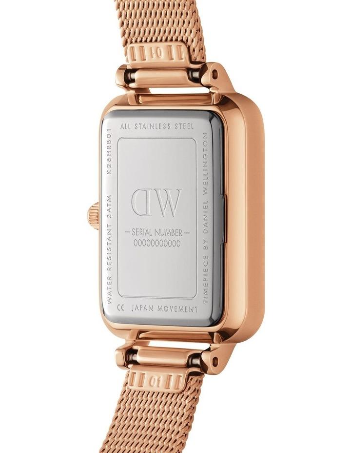 Quadro Pressed Melrose RG White Watch image 4