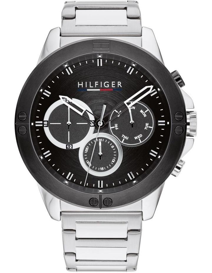 Quartz Multifunction Black Stainless Steel Men's Watch image 1