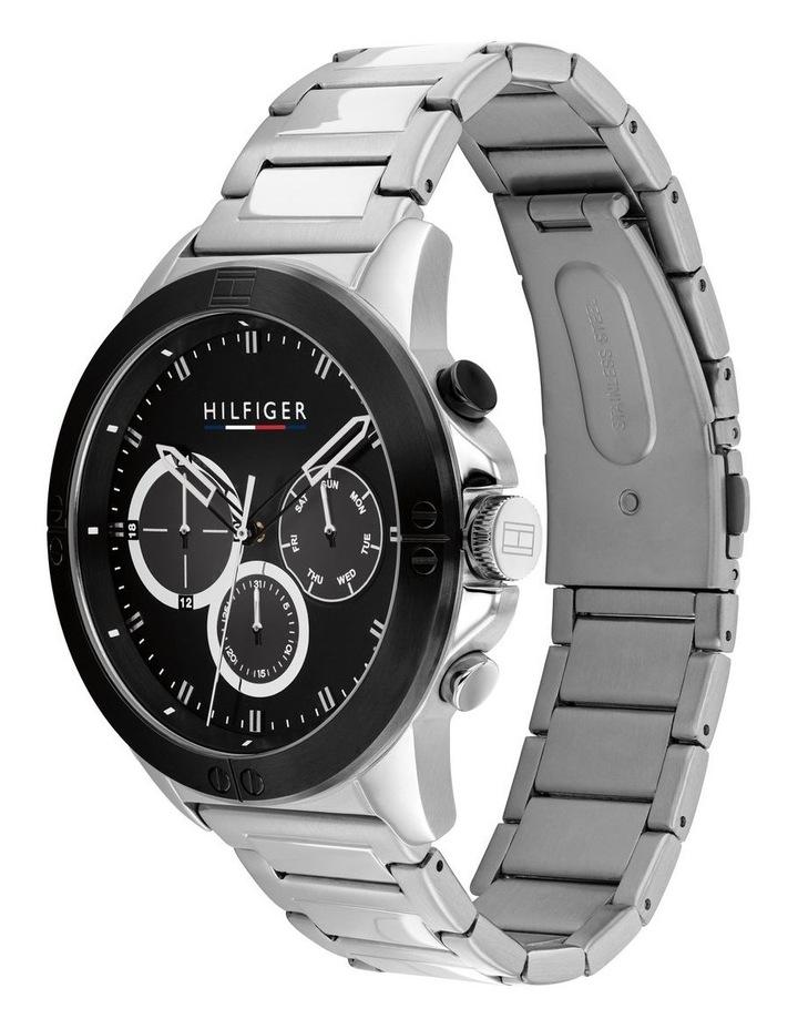 Quartz Multifunction Black Stainless Steel Men's Watch image 2