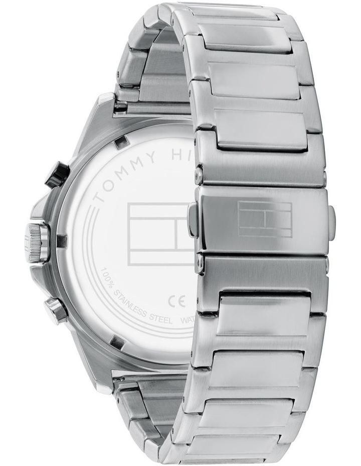 Quartz Multifunction Black Stainless Steel Men's Watch image 3