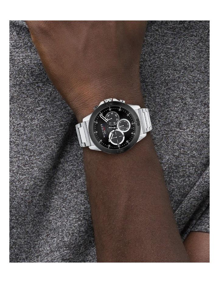 Quartz Multifunction Black Stainless Steel Men's Watch image 4