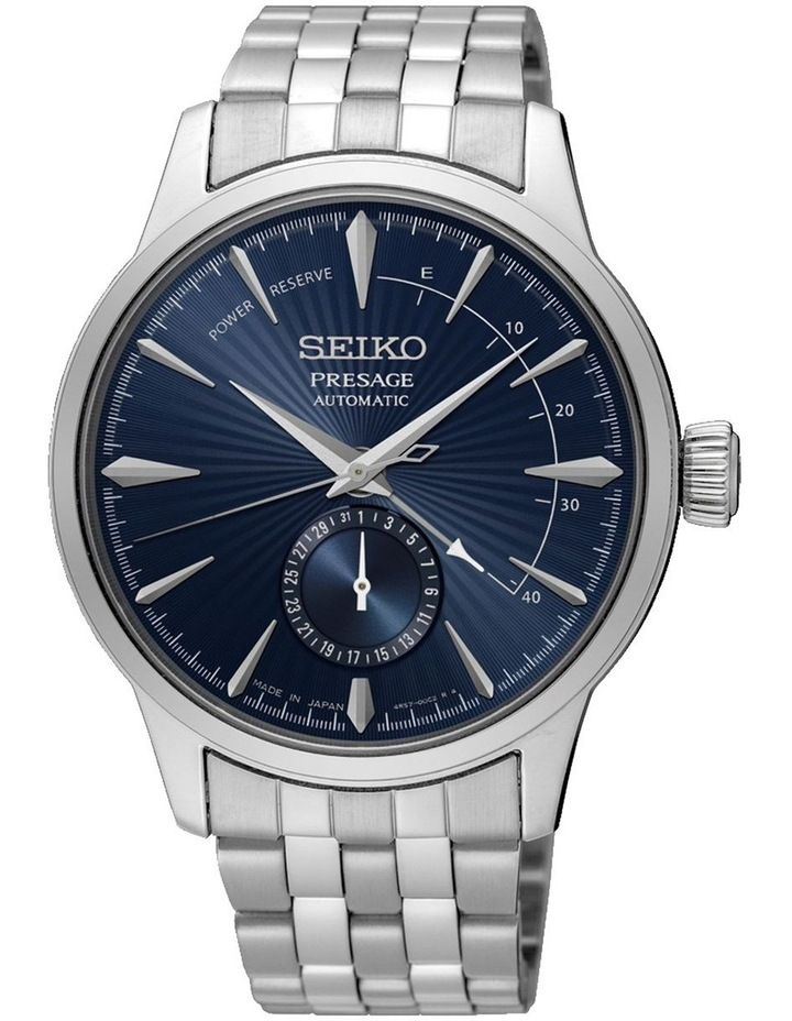Presage Automatic Blue Power Reserve Dial Silver Watch image 1