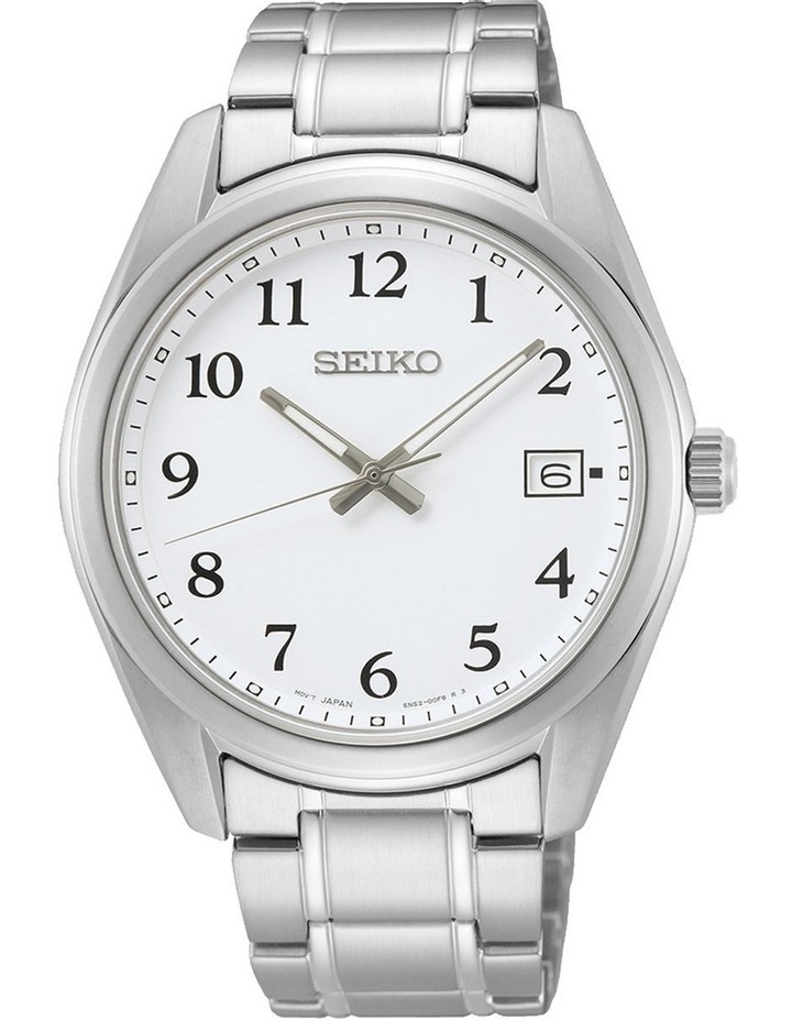 Gents Daywear 100M White Dial Silver Watch image 1