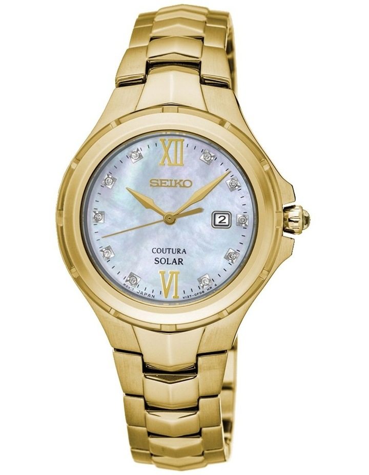 Ladies Coutura Diamond Mop Gold Watch image 1