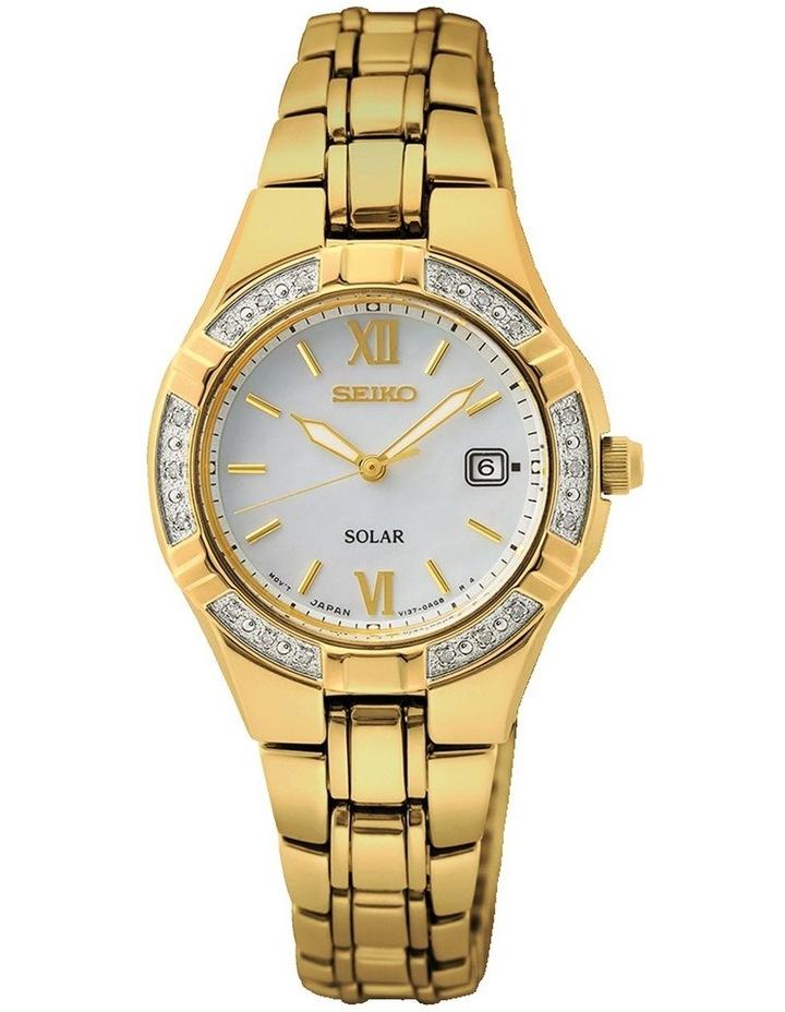 Ladies Diamond Mop Gold Watch image 1