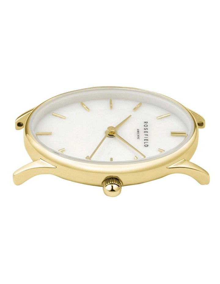 The Oval Mother Of Pearl Dial Gold Mesh Bracelet Watch image 2