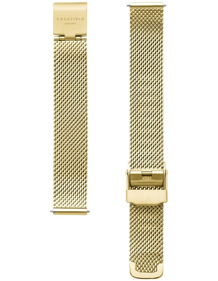 The Oval Mother Of Pearl Dial Gold Mesh Bracelet Watch image 3