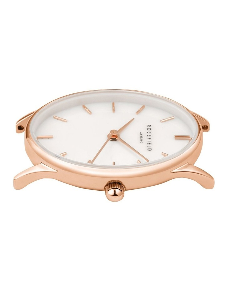The Oval Mother Of Pearl Dial Rose Gold Mesh Bracelet Watch image 2