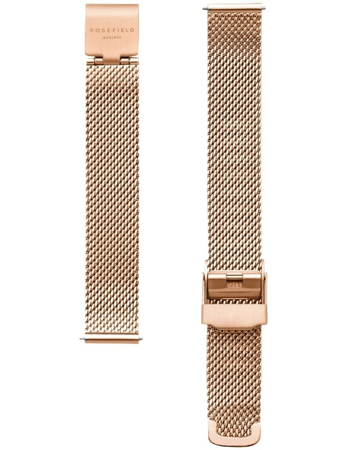 The Oval Mother Of Pearl Dial Rose Gold Mesh Bracelet Watch image 3