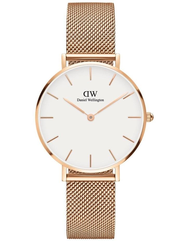 Petite Melrose 32mm White/Rose Gold Stainless Steel Quartz Watch image 1
