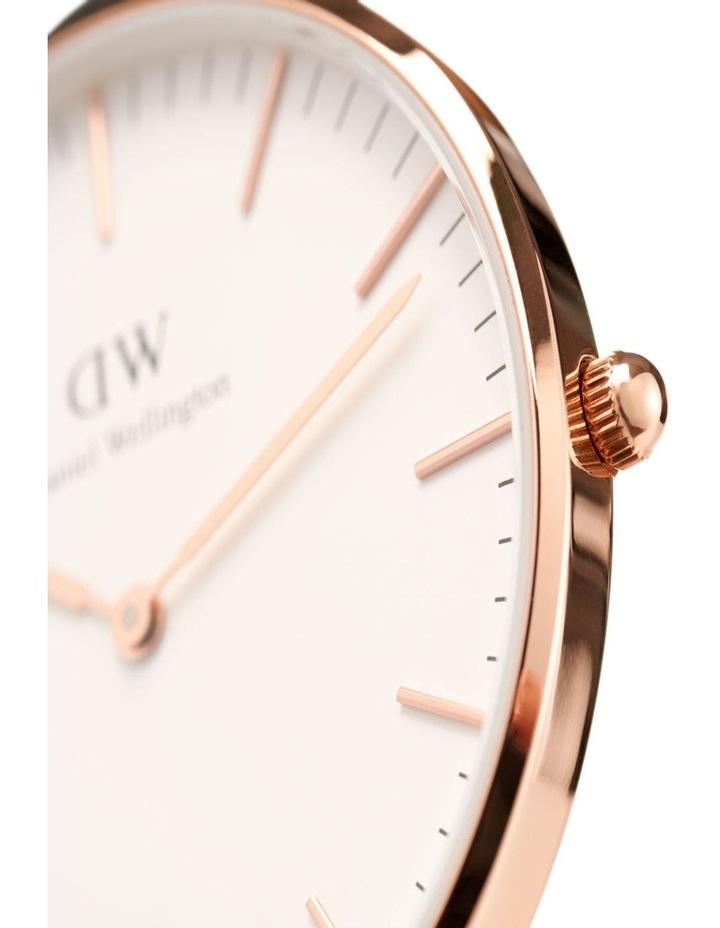 Petite Melrose 32mm White/Rose Gold Stainless Steel Quartz Watch image 3