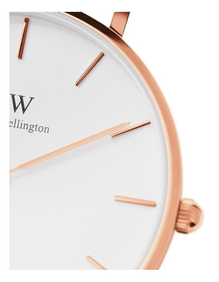 Petite Melrose 32mm White/Rose Gold Stainless Steel Quartz Watch image 4