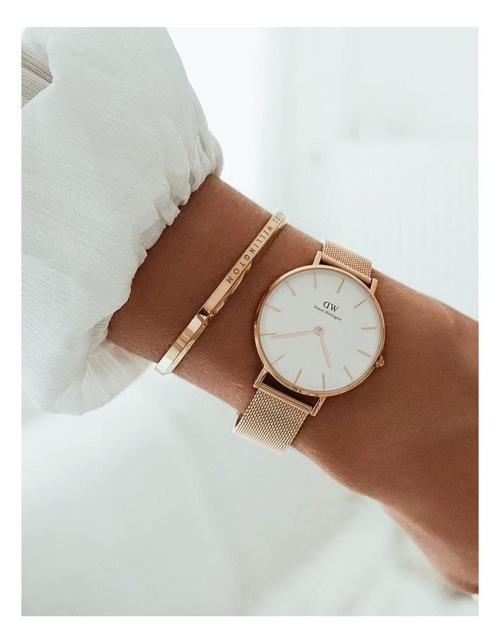 Petite Melrose 32mm White/Rose Gold Stainless Steel Quartz Watch image 6