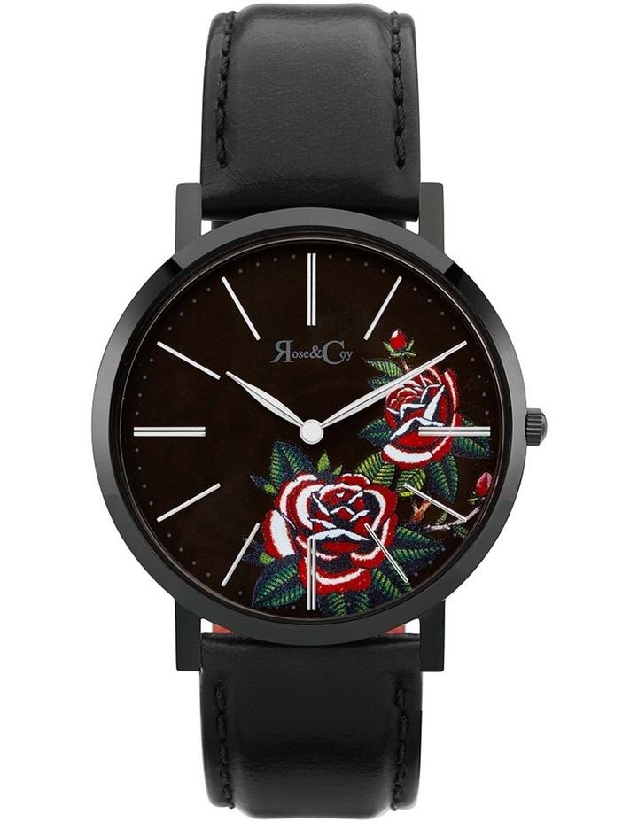 Art Series Pink Rose Black Watch image 1