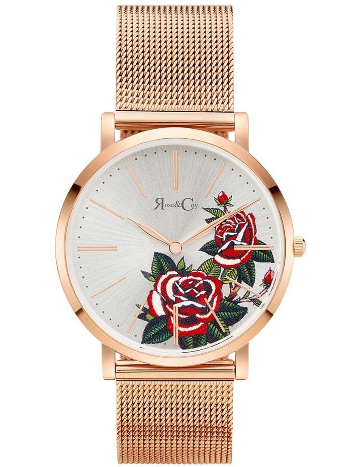 Art Series Pink Rose Rose Gold Watch image 1
