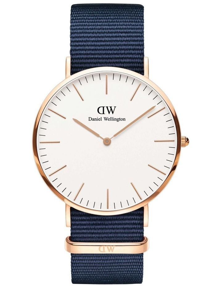 Bayswater 40mm White Dial Rose Gold Watch image 1