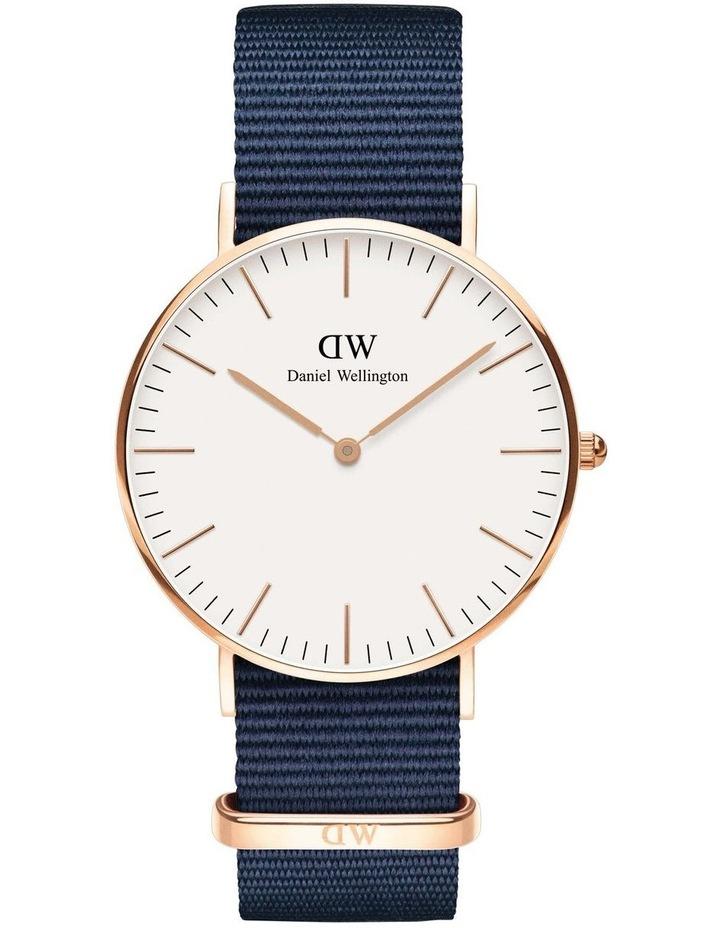 Bayswater 36mm White Dial Rose Gold Watch image 1