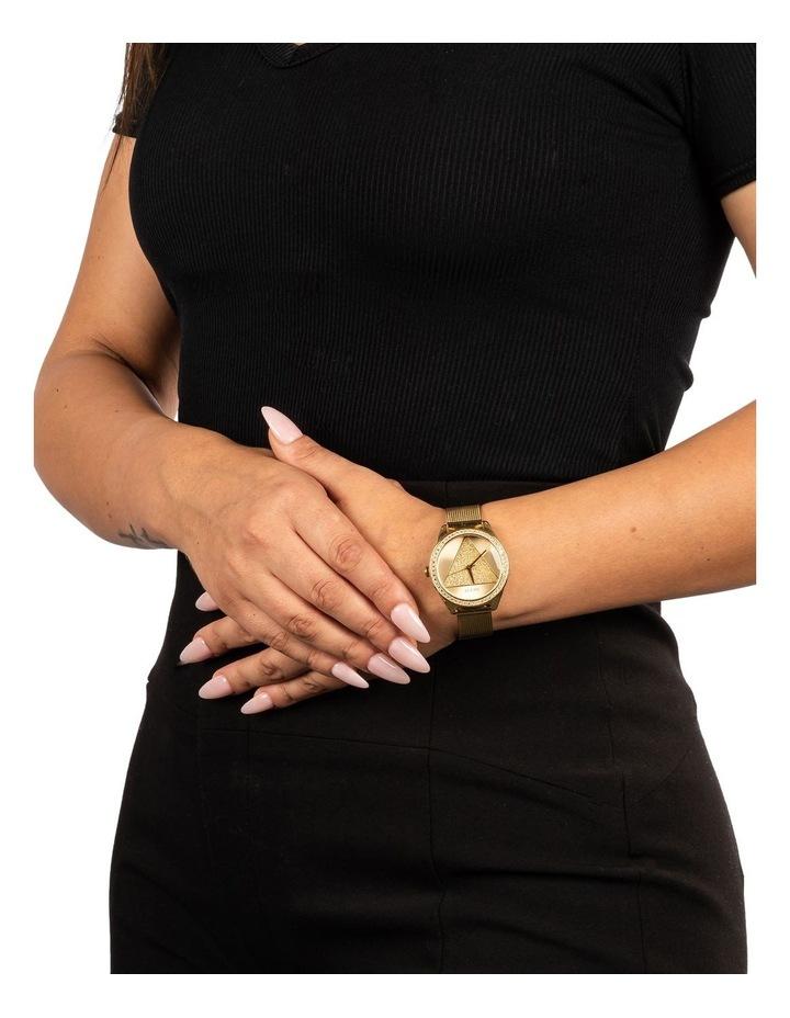 Tri Glitz Gold Stainless Steel Luxury Watch W1142L2 image 2