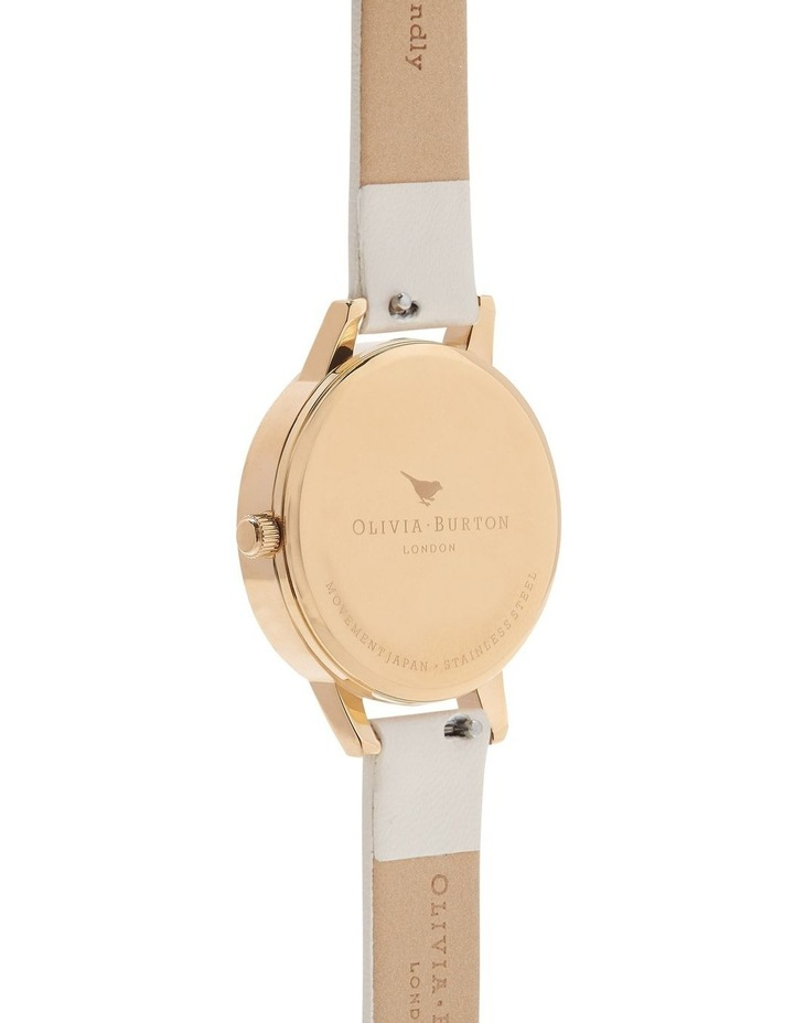 Bejewelled Florals Gold & Nude Watch image 2