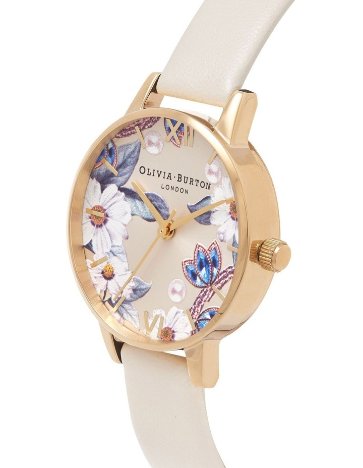 Bejewelled Florals Gold & Nude Watch image 3