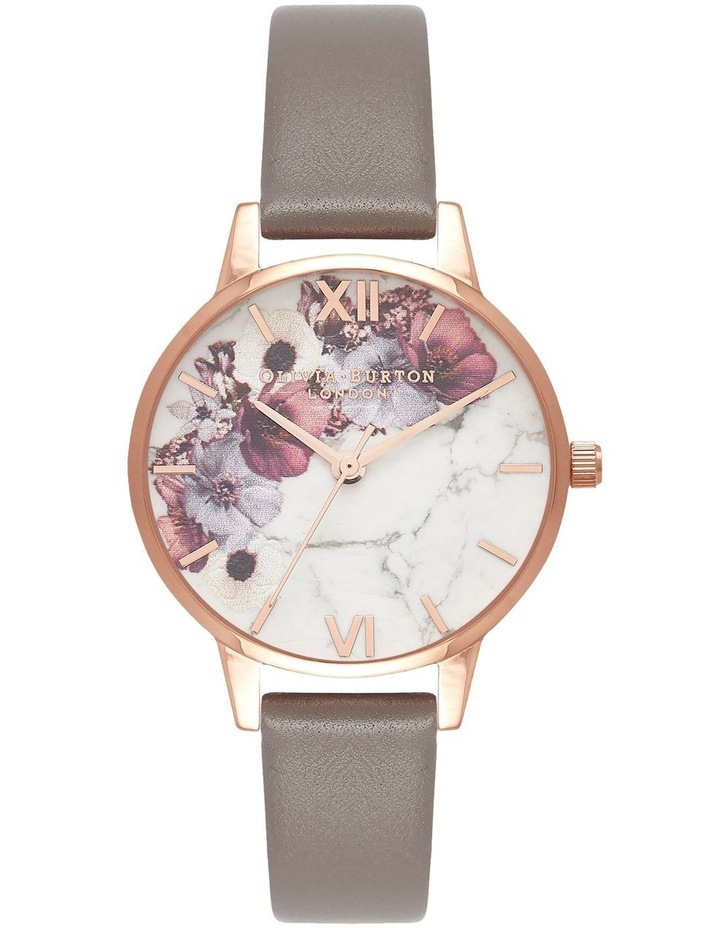 Marble Florals Rose Gold & Grey Watch OB16MF08 image 1