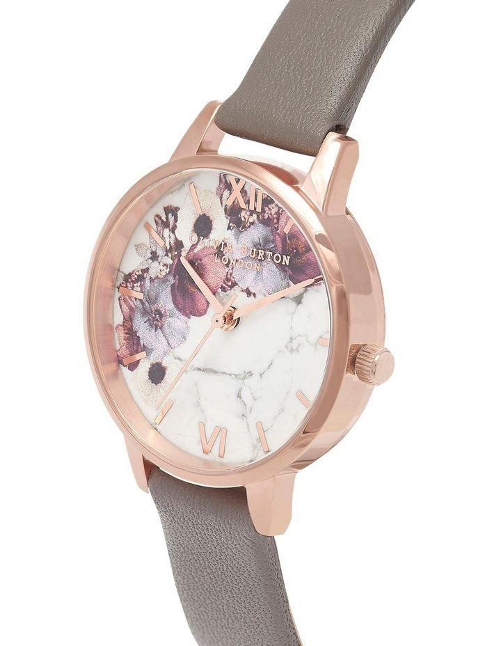 Marble Florals Rose Gold & Grey Watch OB16MF08 image 3