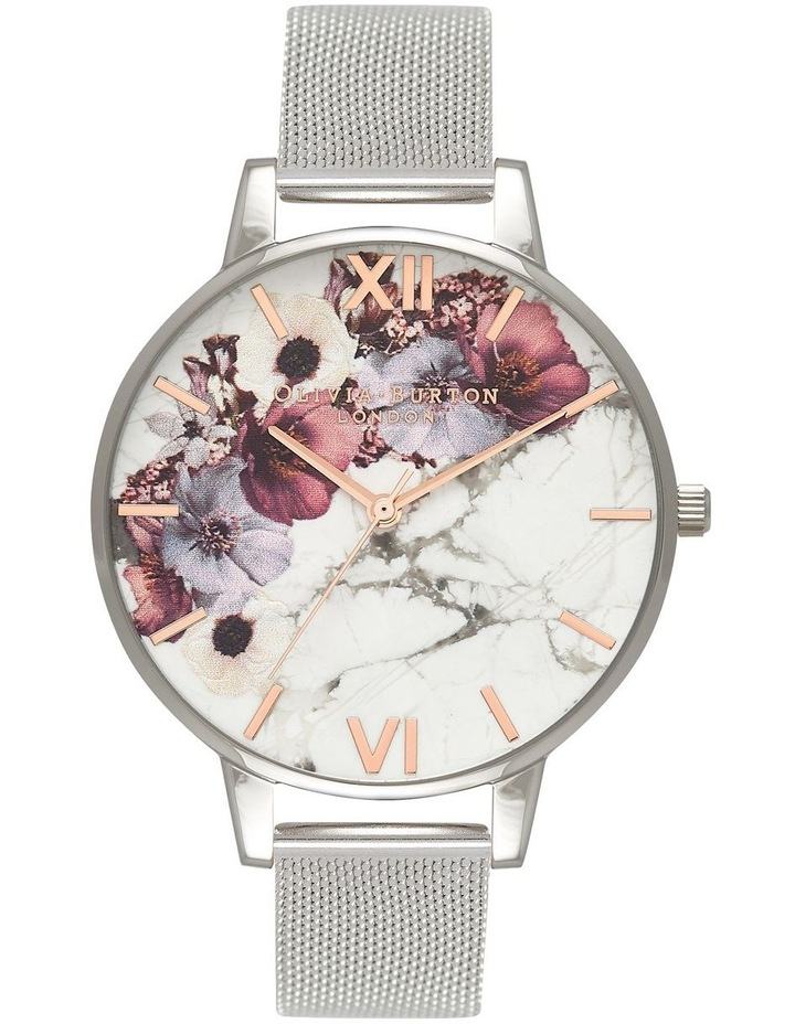 Marble Florals Silver & Rose Gold Watch OB16MF09 image 1