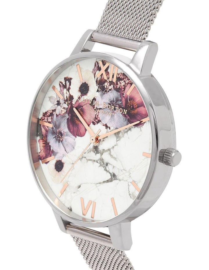 Marble Florals Silver & Rose Gold Watch OB16MF09 image 3