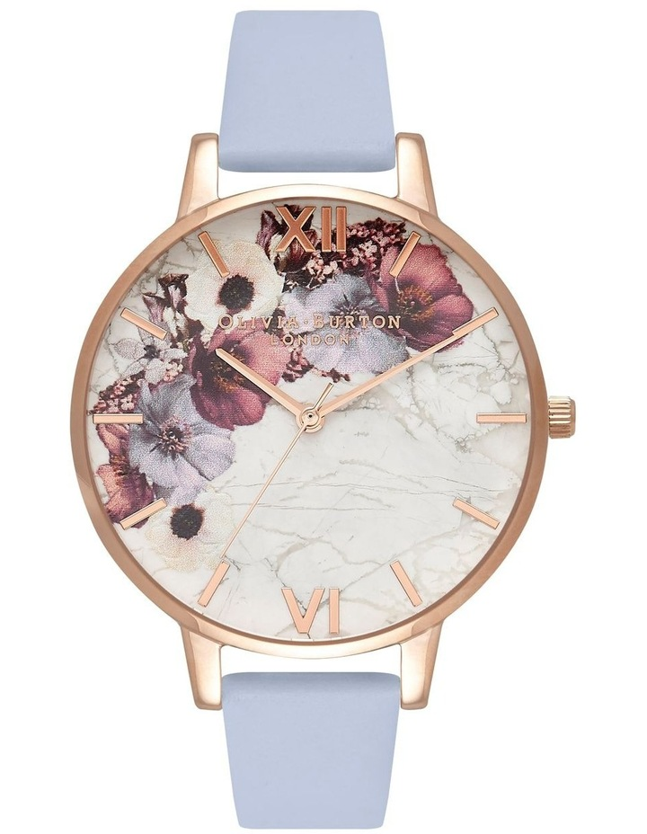 Marble Florals Rose Gold & Chalk Blue Watch image 1