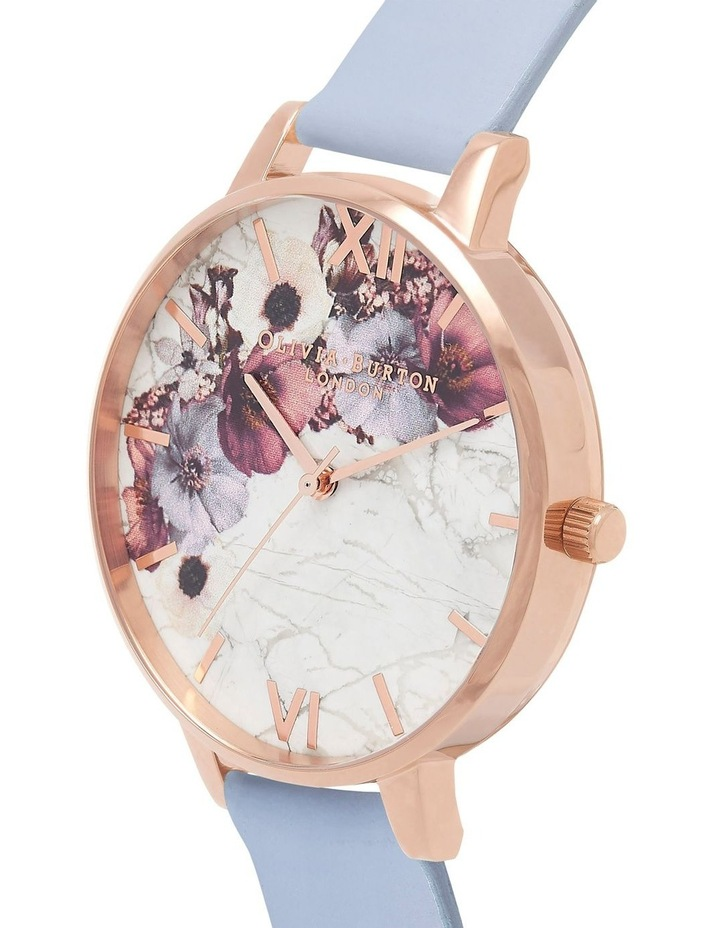 Marble Florals Rose Gold & Chalk Blue Watch image 3