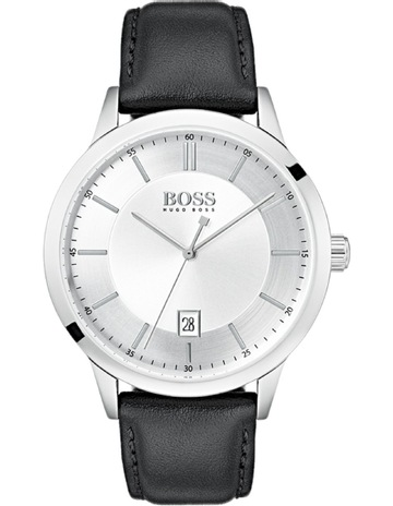 0770898f37fa01 Hugo Boss Officer Silver White Watch