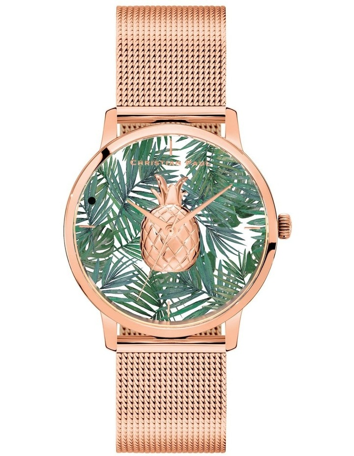 181PFR4019 Pineapple Forrest Rose Gold Watch image 1