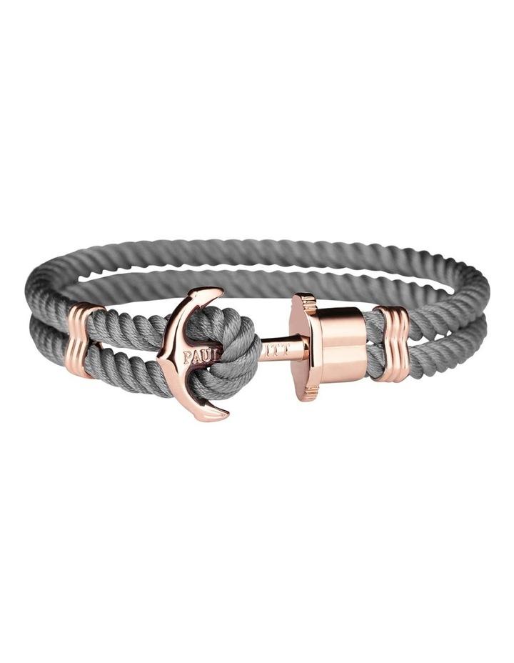 PH-PH-N-R-Gr-M Anchor Bracelet Phrep Grey image 1