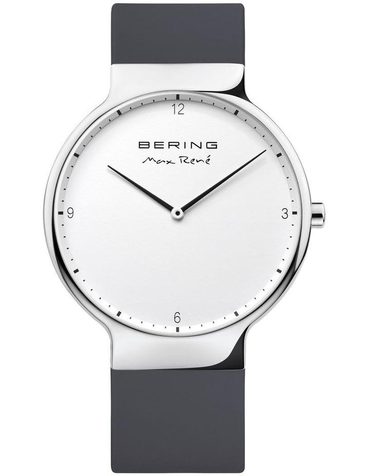 15540-400 Silicone Strap Black Watch image 1