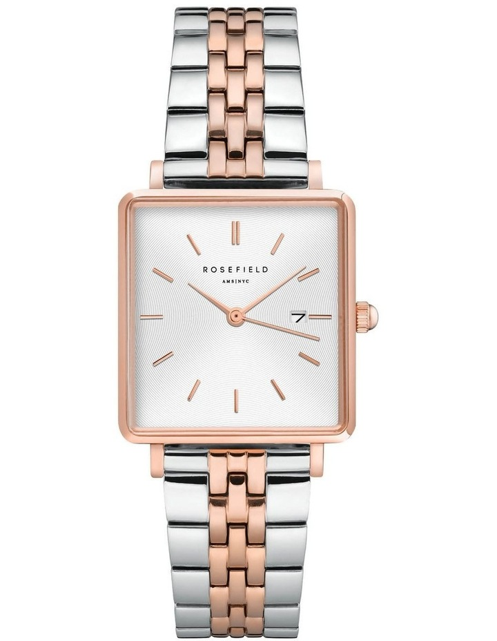 Rosefield QVSRD-Q014 The Boxy 2 Tone Watch image 1