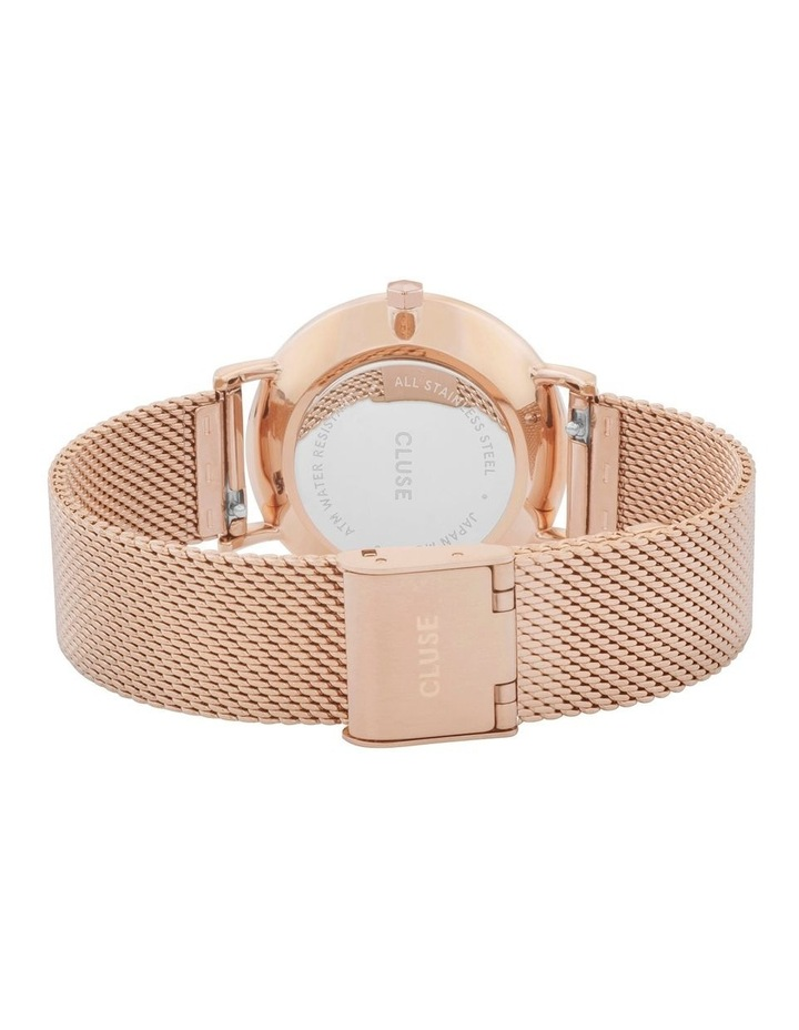 CLUSE Minuit CW0101203001 Mesh Rose Gold-White Watch image 3