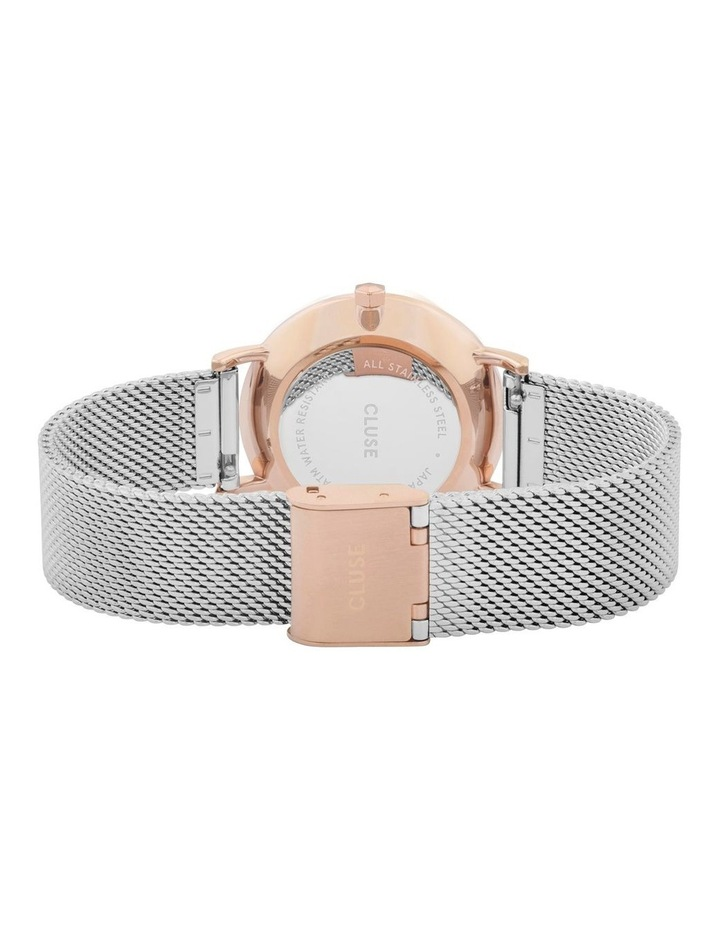 CLUSE Minuit CW0101203004 Mesh Rose Gold-Silver Watch image 3