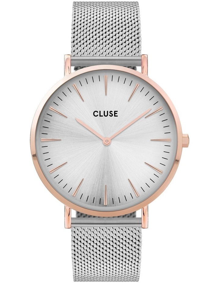 CLUSE La Boheme CW0101201006 Mesh Rose Gold-Silver Watch image 1