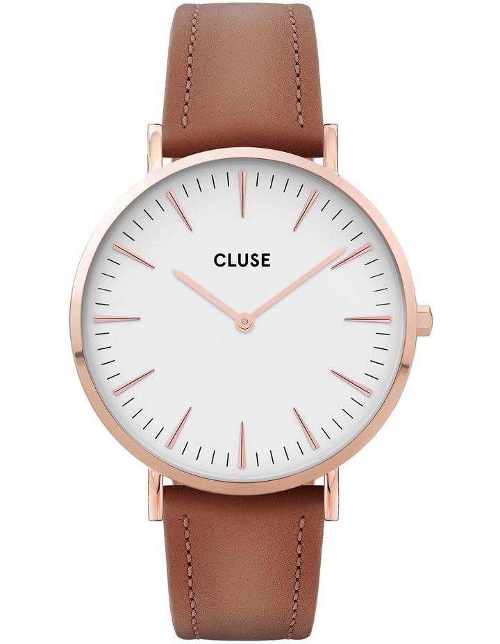 CLUSE La Boheme CW0101201017 Rose Gold White-Caramel Watch image 1