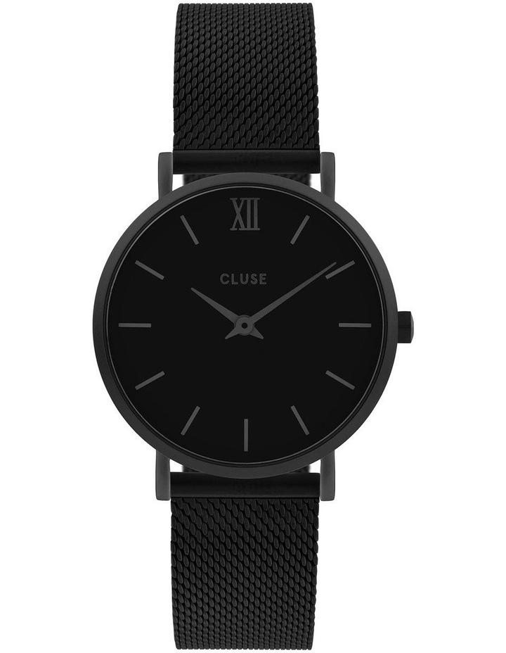 CLUSE Minuit CW0101203012 Mesh Full Black Watch image 1