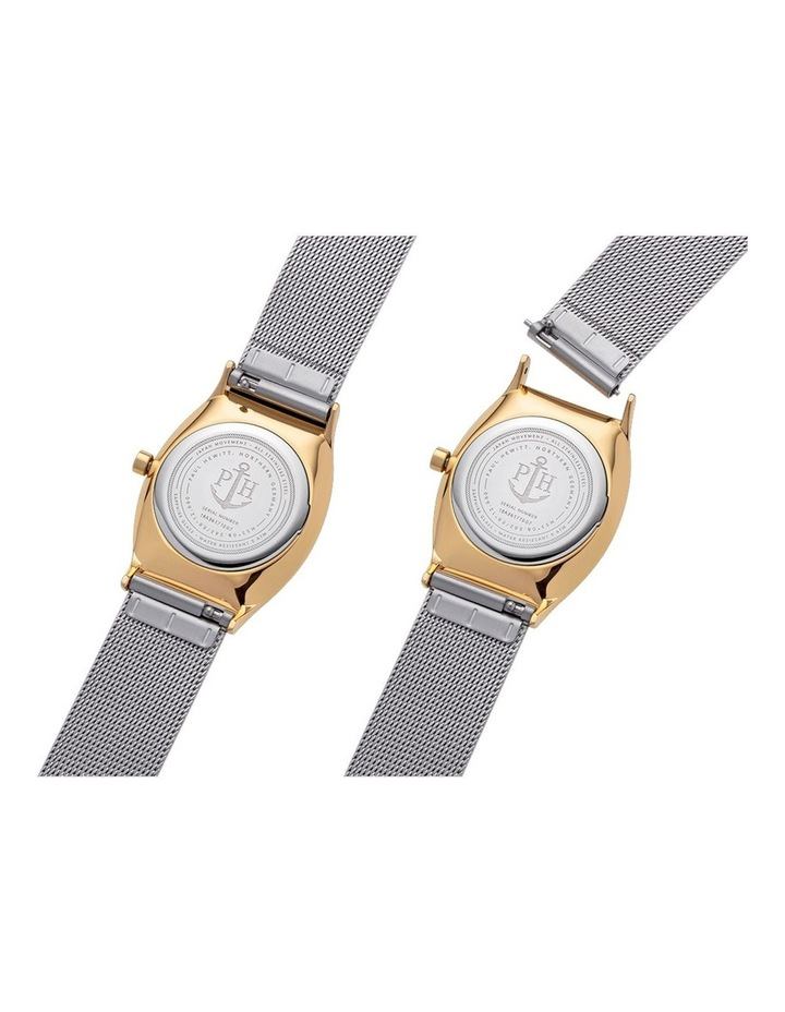 PH-T-GG-SS-44S Modern Edge Silver IP Gold Watch image 4