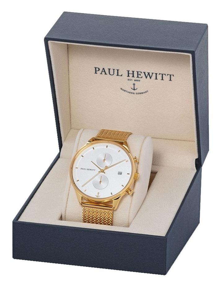 PH-C-G-W-50S Chrono Line Gold Mesh Watch image 3