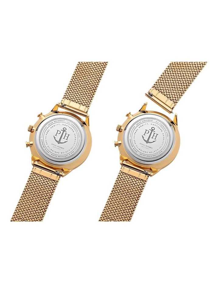 PH-C-G-W-50S Chrono Line Gold Mesh Watch image 4