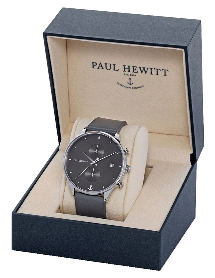 PH-C-S-M-48M Chrono Line Grey Leather Watch image 3