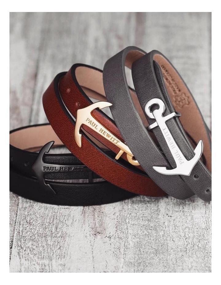 PH-WB-R-2S North Bound Leather Bracelet Rose Gold / Black image 2