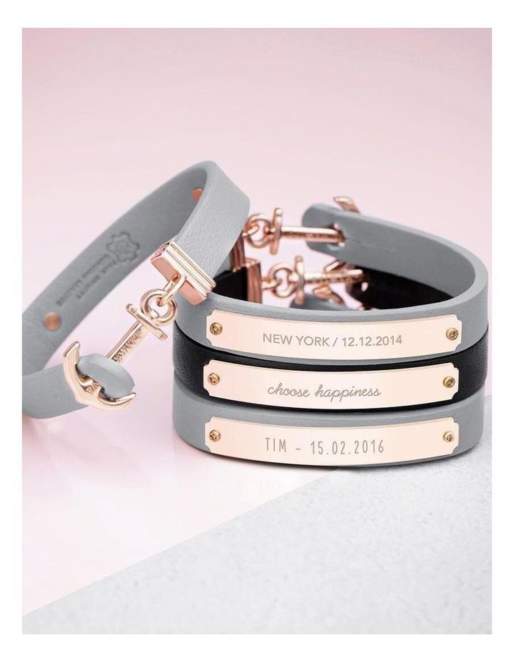 PH-FSC-R-B-S Signum Leather Bracelet Rose Gold / Black image 4
