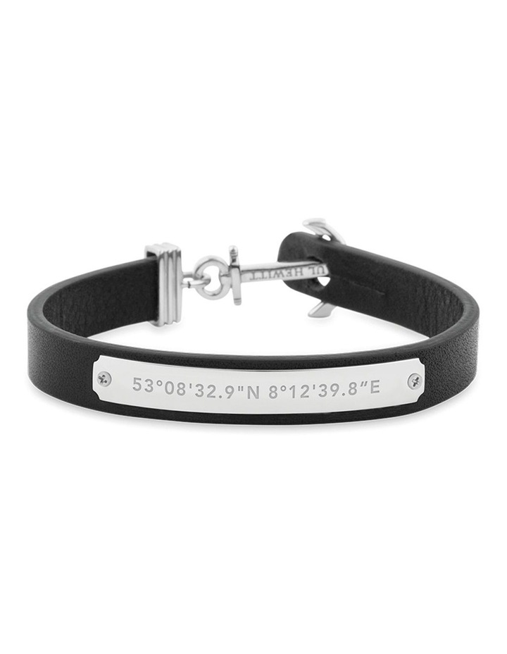 PH-FSC-S-B-L Signum Leather Bracelet SS / Black image 1