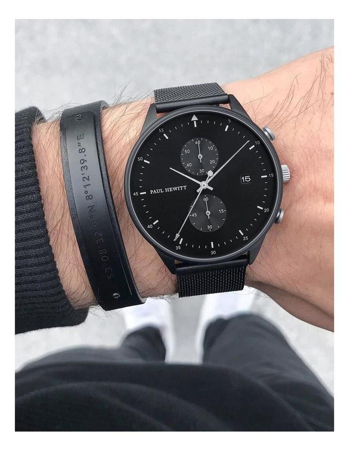 PH-MSC-B-B-L Signum Leather Bracelet Black / Black image 3